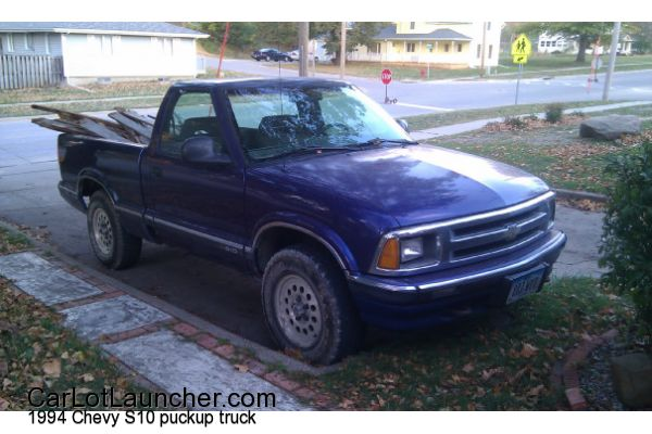 Used 1994 Chevy S10 puckup truck for sale at CARLOTLAUNCHER in Any Town IA