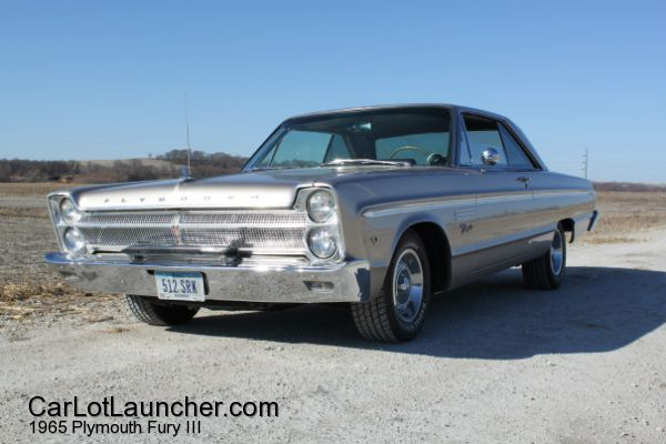 Used 1965 Plymouth Fury III for sale at CARLOTLAUNCHER in Any Town IA